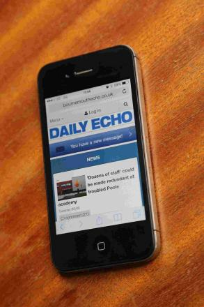 The Daily Echo's new mobile website
