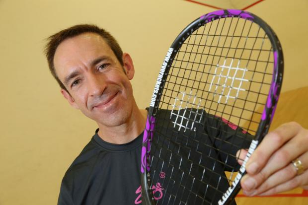 WINNER: Bournemouth-based squash player Clive Ewins is the British Masters champion