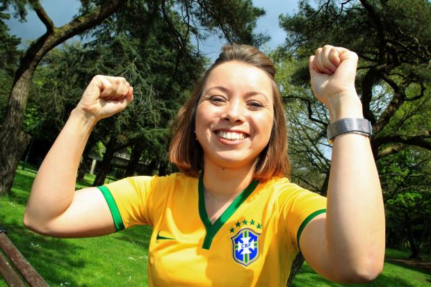 Erica Karouk will be supporting her native Brazil