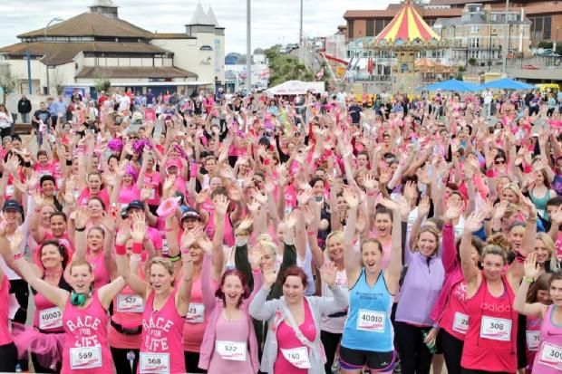 Bournemouth Echo: Ladies gathering this morning for the event. Pic: Sally Adams
