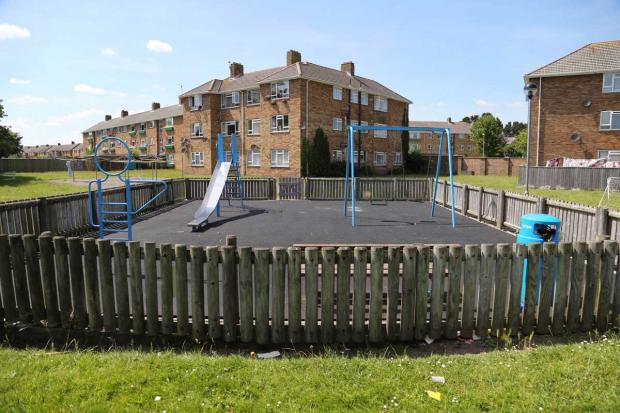 Quantock Court playground in Hunt Road, Christchurch
