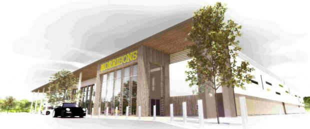 Artist's impression of the new Morrison's store