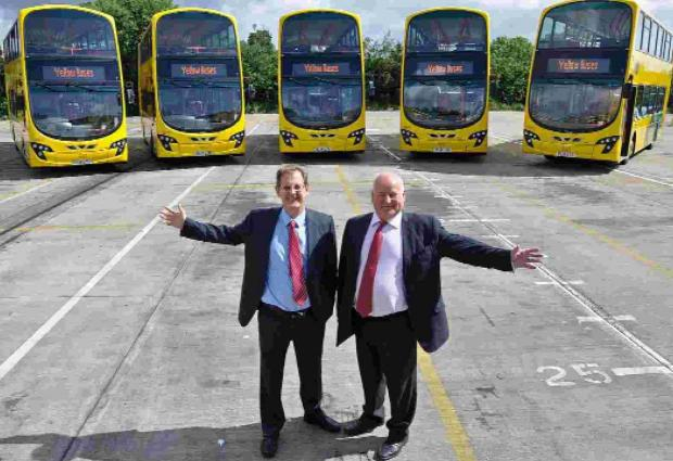 GOING PLACES: Andrew Smith, left, and Malcolm Venn of Yellow Buses