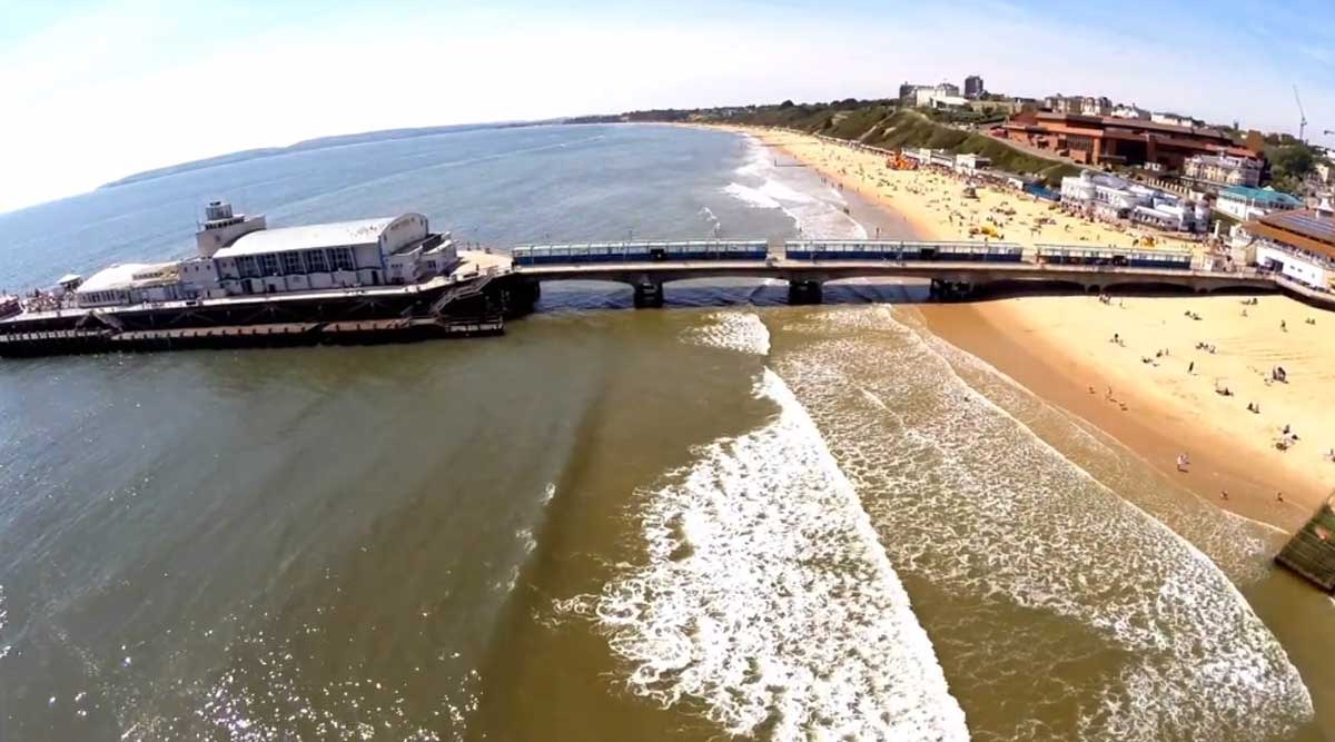 VIDEO: Bird's eye view of Bournemouth seafront -  stunning footage captured by drone