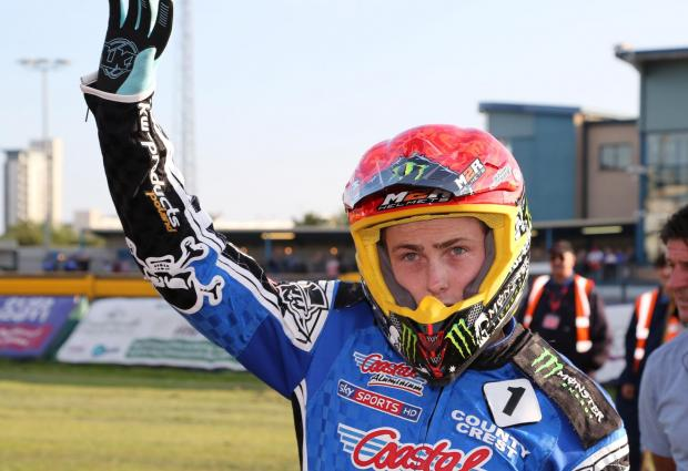 STAR RIDER: Poole Pirates' number one Darcy Ward