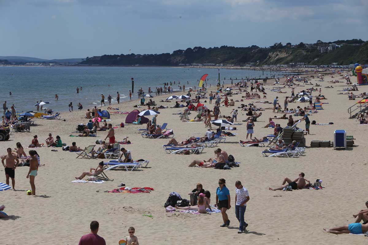 Busy weekend for coastguard as thousands flock to beach