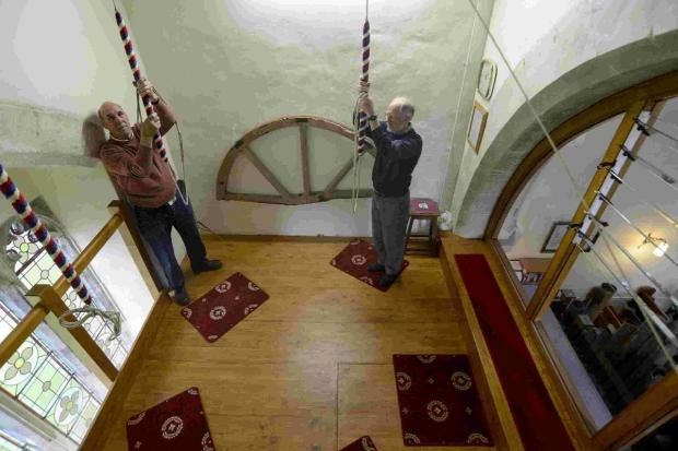 ALL NEW: The mezzanine bell-ringing floor at the church