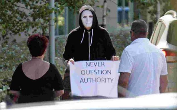 Timothy Yarnold attends court in a mask at an earlier hearing