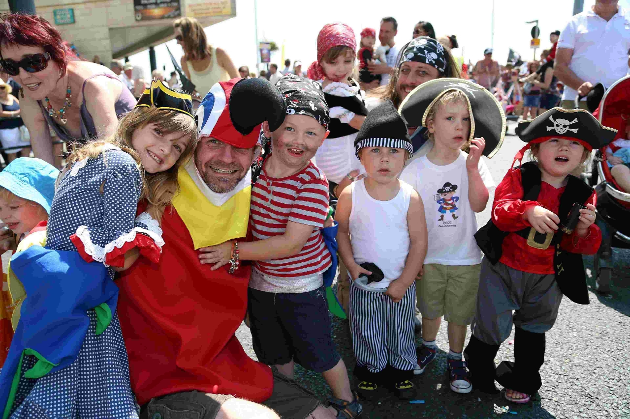 Children enjoy Harry Paye day on Poole Quay