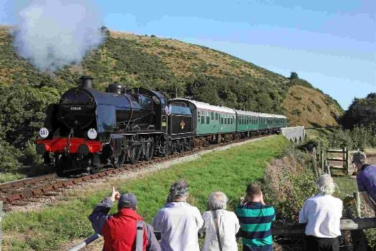 The SR U class No. 31806 on the Swanage Railway