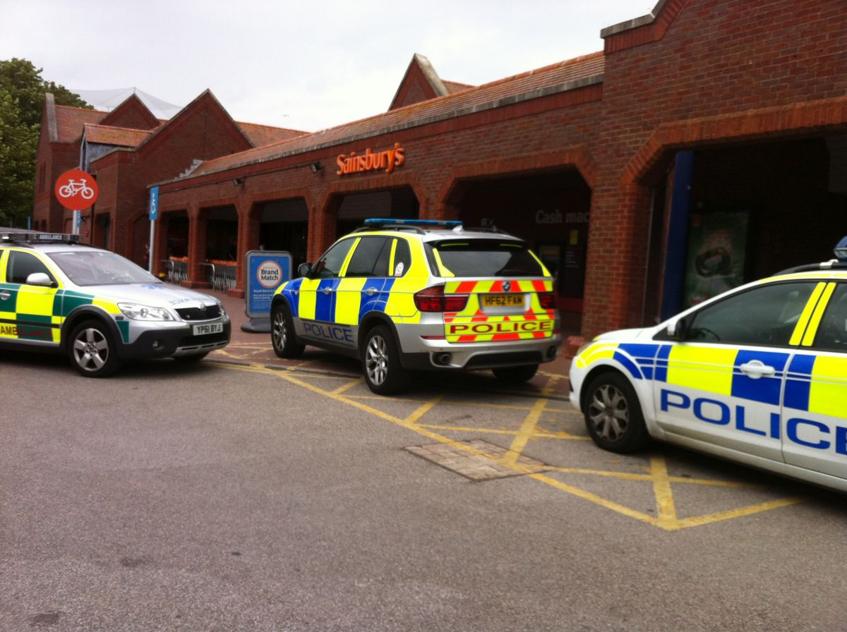 Police called to accident at Sainsbury's Poole
