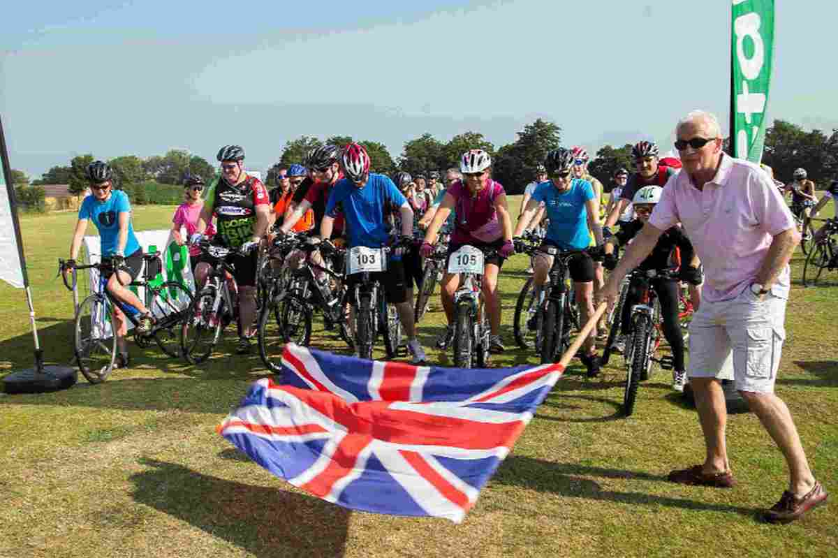 PEDAL POWER: Cricket legend Dave Gower opens last year's 25k route