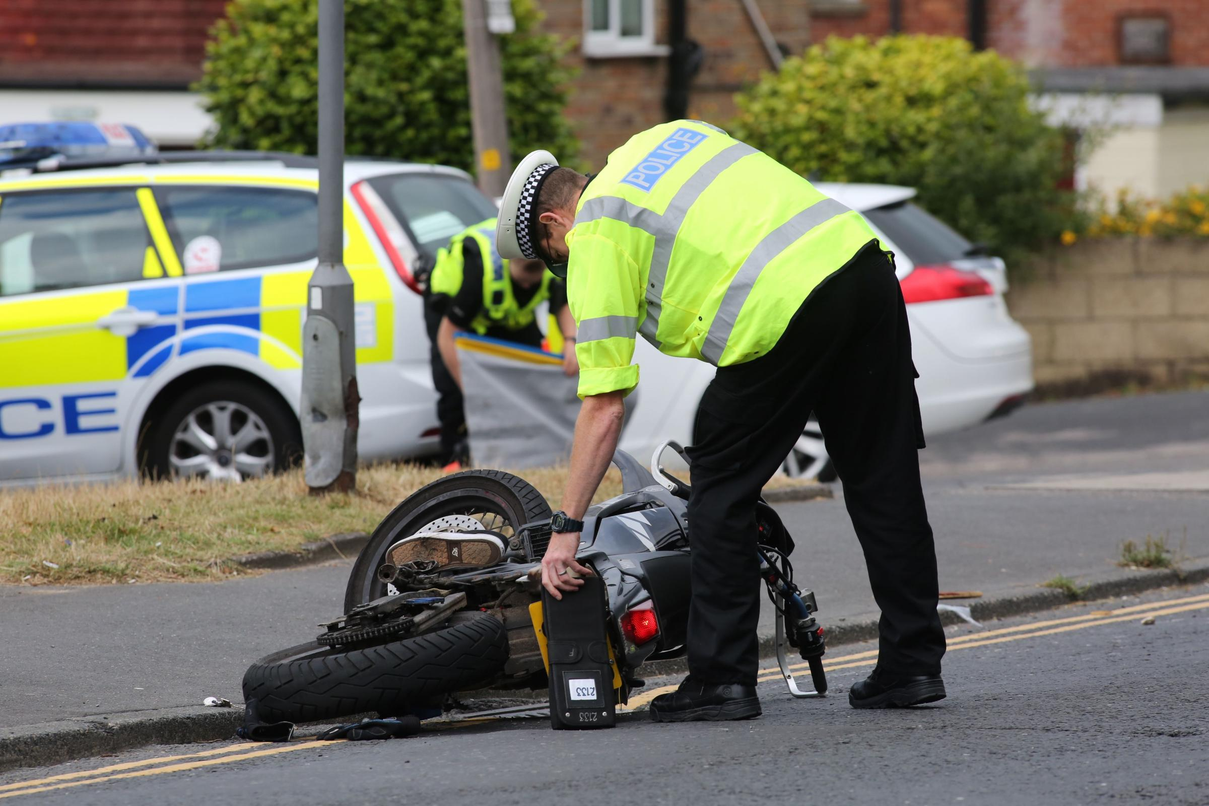 VIDEO: Motorcyclist suffers 'life-changing' foot injuries after serious two-vehicle crash