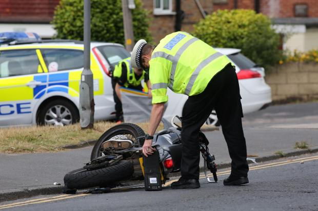 Motorcyclist injured in two-vehicle crash will not lose foot