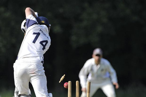 VALUABLE LESSON: Parley's Jamie Price loses his wicket