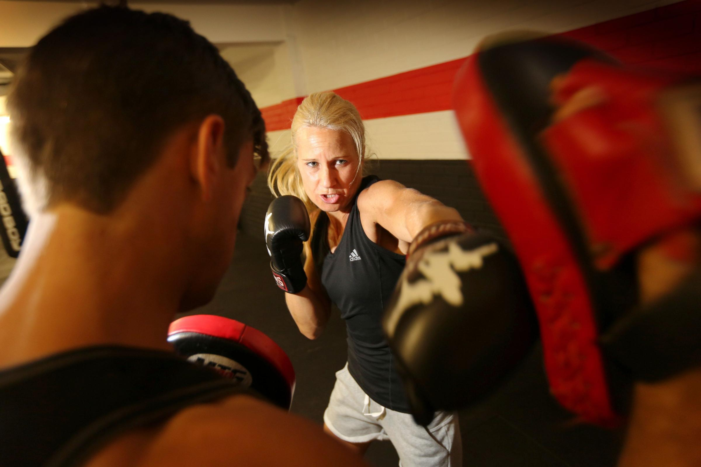PACKING A PUNCH: World title hopeful Denise Castle