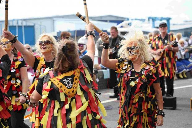 SUCCESS: Morris dancers and performers take part in Folk on the Quay at Poole Quay