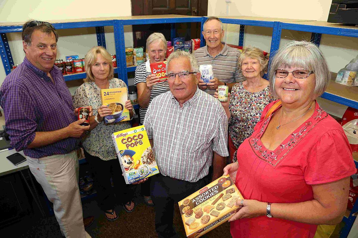 GOOD JOB: Volunteers from Immanuel Church are launching their new food bank at the church in Southbourne