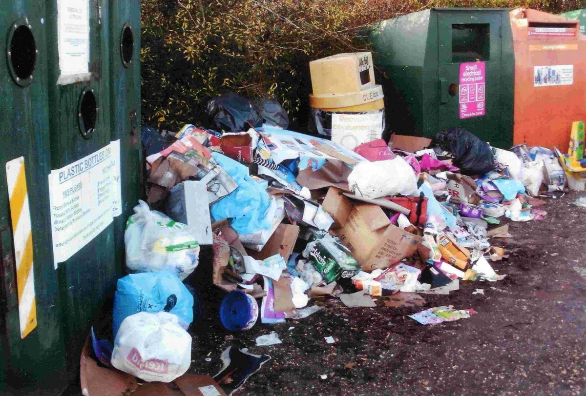 Fly tipping forces closure of recycling centre after sofas and mattresses dumped