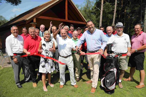 OPEN: The opening of a new half-way house at Broadstone Golf Club built in memory of former club member Dan James
