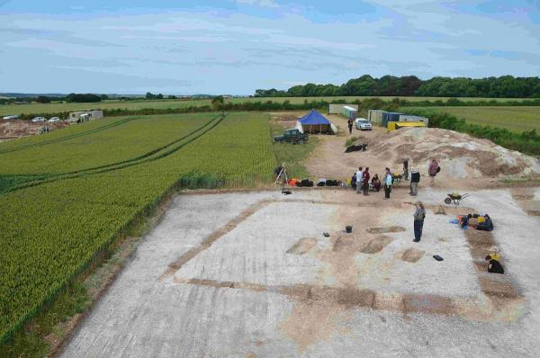 REMAINS: The dig site at Winterborne Kingston