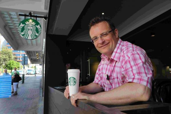 PASSION: Mark Hepburn, franchisee of the new Starbucks on Richmond Hill