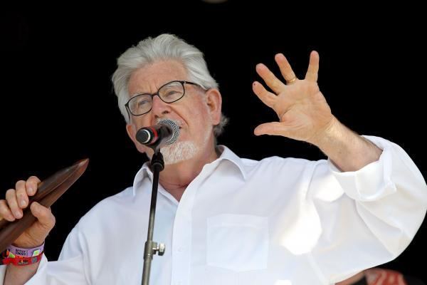 Rolf Harris performing at Camp Bestival