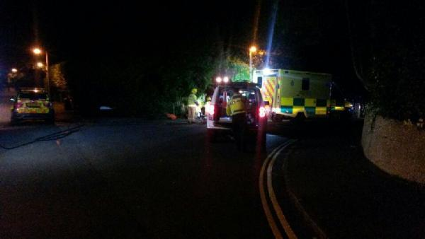 Man taken to hospital after crash in Poole
