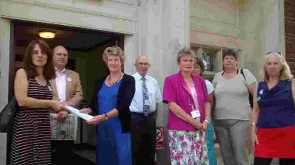PROTEST: Eleanor Parker presents at petition to Cllr Jill Haynes