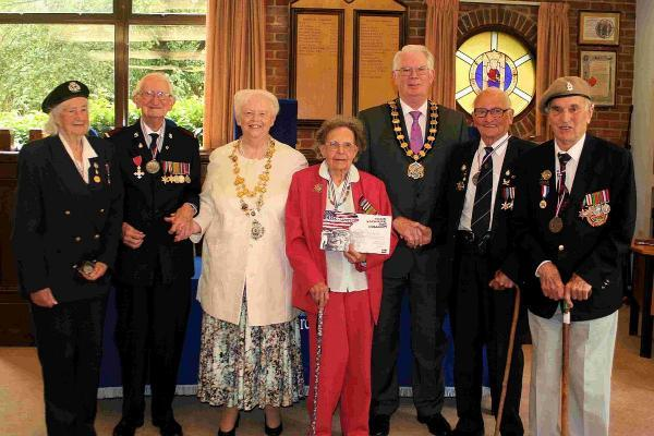 PRESENTATION: Lorna Cockayne, Phil Carey, Cllr Denise Jones, Melville Pidgeon, Cllr John Wilson (DCC), Fred Newman and Anthony Mott