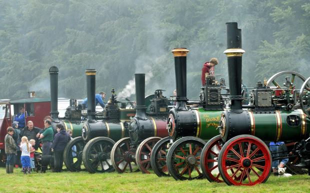The Great Dorset Steam Fair attracts around 200,000 visitors