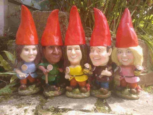 Bournemouth Echo: The stars of Good Morning Britain are immortalised as garden gnomes