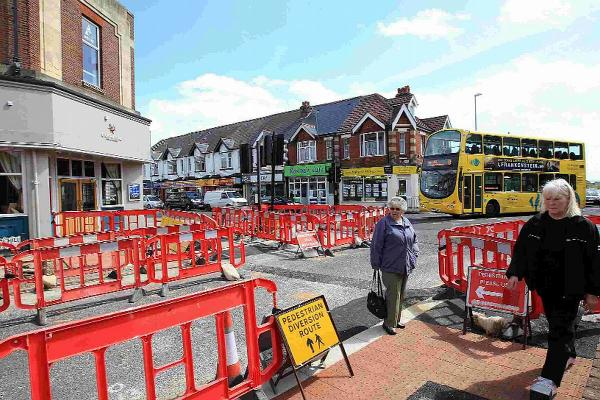 CHANGES: Road works at the junction of Churchill Road and Ashley Road as part of the Three Towns Travel Scheme