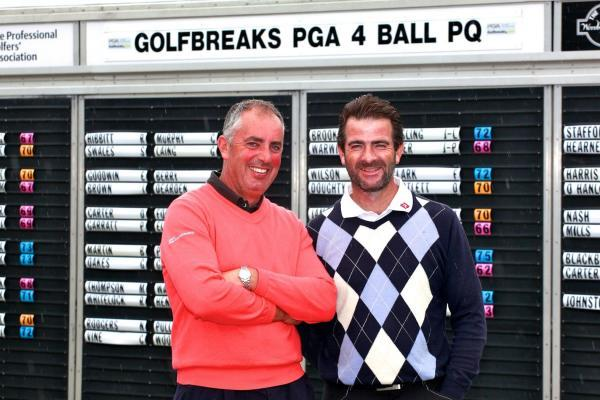 WINNING COMBINATION: Mark Wiggett and Lee Thompson (right)