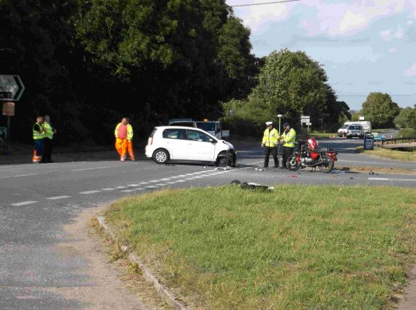 Tributes to biker who died in two-vehicle crash