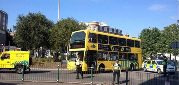 Bournemouth Echo: Broken down bus causes delays at the Lansdowne