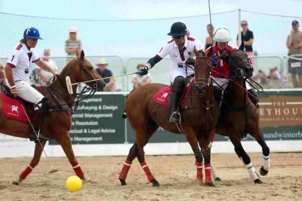 TEAM: The Asahi Beach Polo Championships take place on Sandbanks Beach