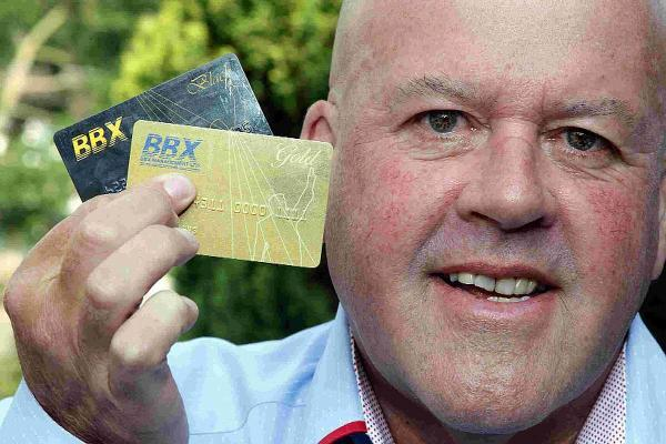 BBX: John Attridge with the BBX Card, a cashless payment platform that uses businesses' spare capacity and sells it for 'BBX pounds'