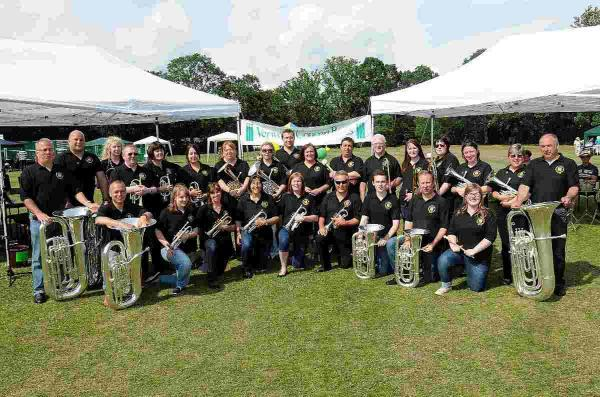 Brass band celebrates 150 years with 'musical knees-up'