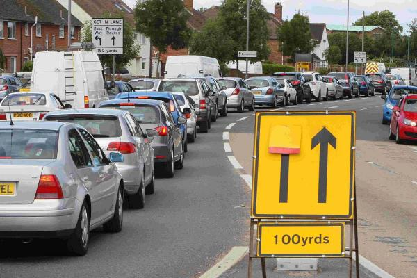 CONGESTION: Traffic builds up on Castle Lane West