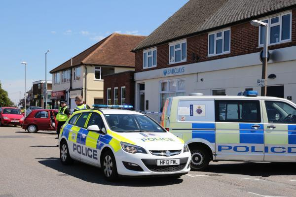 Barclay's Bank in Wallisdown was allegedly robbed last week