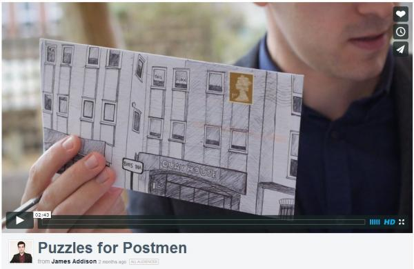VIDEO: Meet James, the graphic designer who writes puzzles for postmen