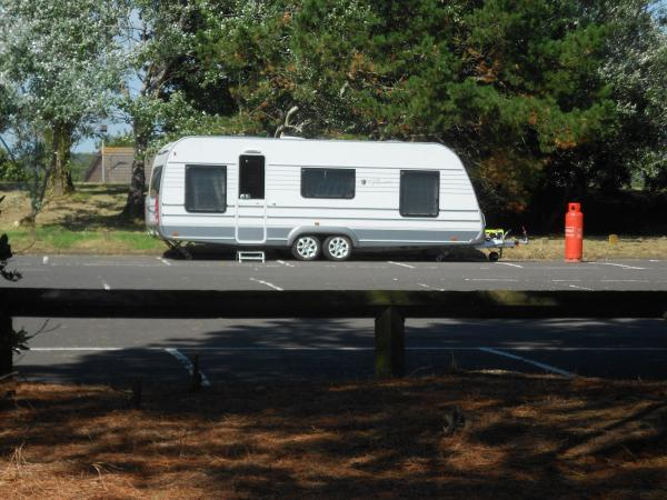 Travellers asked to move caravan further away from resident's back garden