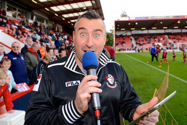 WEMBLEY WISH: AFC Bournemouth announcer Mike Botto