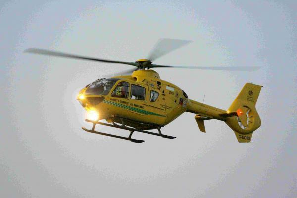 Air ambulance called to Bernards Mead in Iford