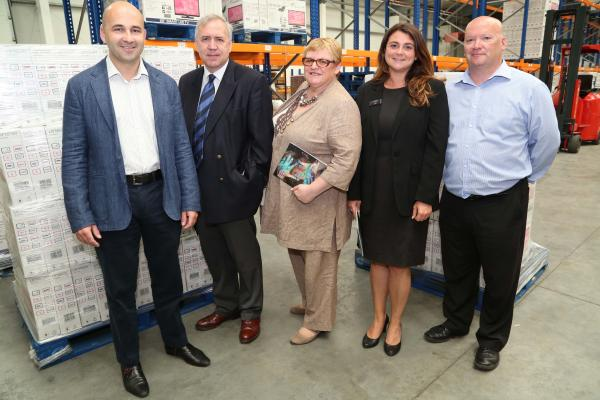 SUCCESS STORY: Pictured are director Barry Kick, with Robert Syms MP, Cllr Elaine Atkinson, Leader of Borough of Poole, with Lucy Cooper of the Dorset Growth Hub, and Adr