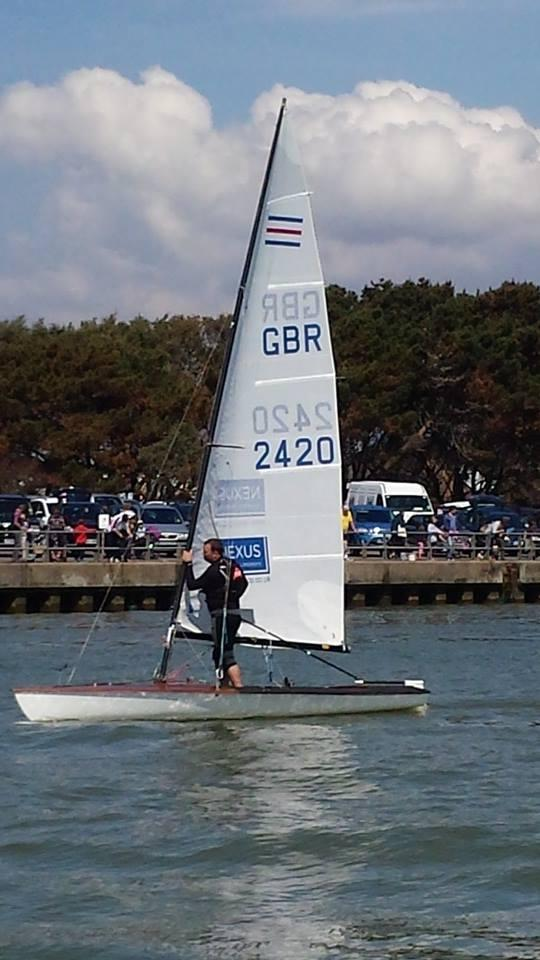 EURO QUEST: Highcliffe Sailing Club's Simon Mussell