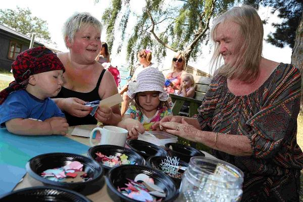 GET CRAFTY: Children get involved with craft activities