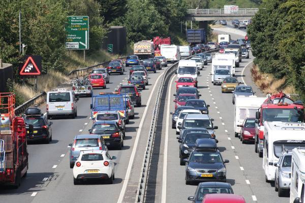 Traffic is slow on the A31. File photo.