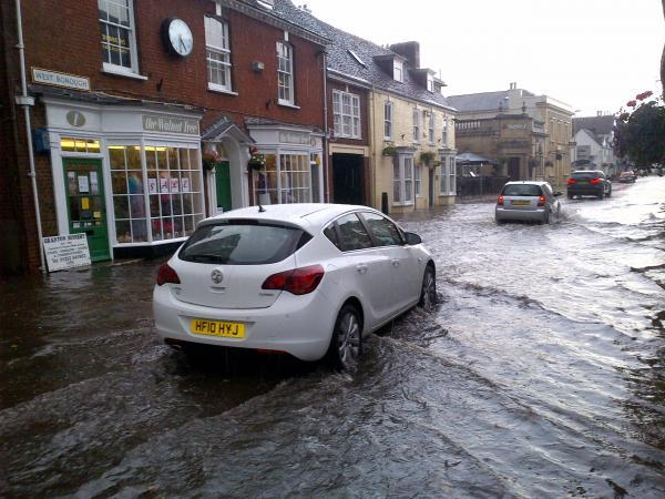 Storm takes Dorset by surprise and results in flash floods. Picture by James Marshall.